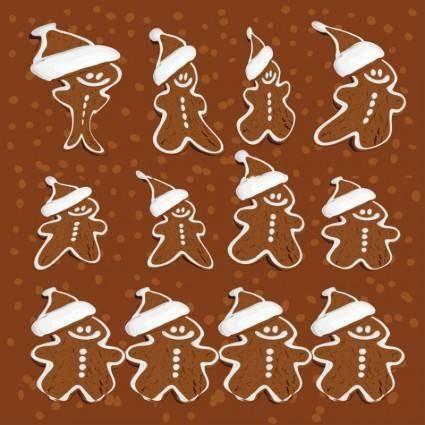 free vector Gingerbread Man Vectors
