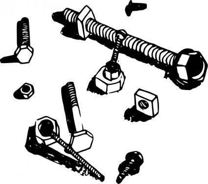 free vector Nuts and Bolts