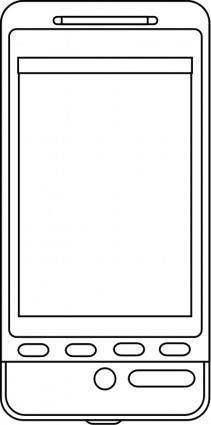 free vector Android phone line art