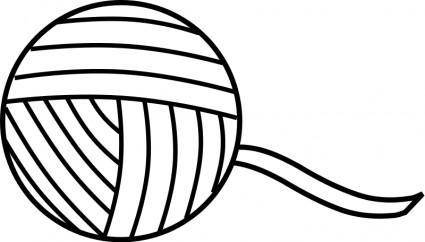 free vector Yarn Line Art
