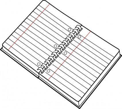 Cahier spirale ouvert / open spiral notebook