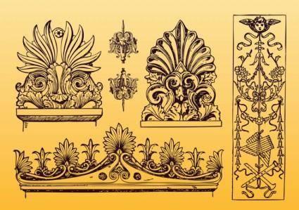 free vector Antique Ornament Vectors