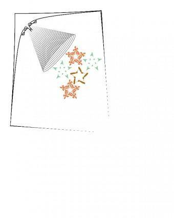 Abstract Lamp and Snowflakes