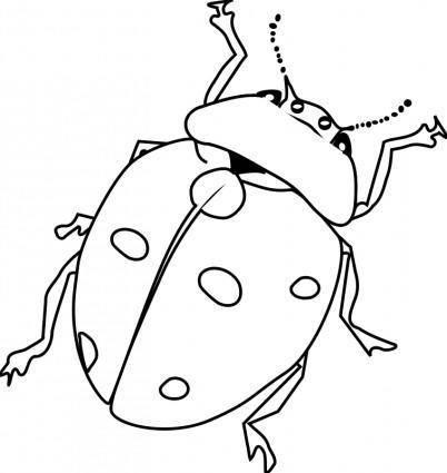 free vector Ladybug Line Art