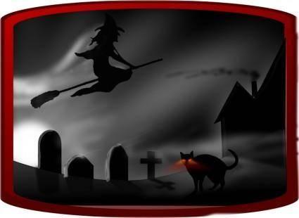 Dark spooky landscape II