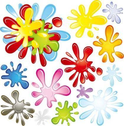 free vector Color pigments vector