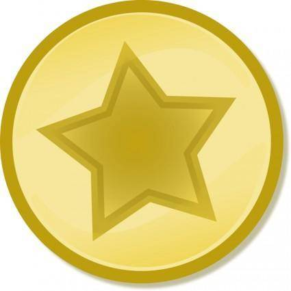 free vector Yellow circled star