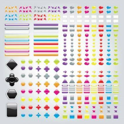 free vector Labels Buttons