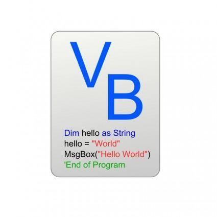 free vector Visual Basic Icon