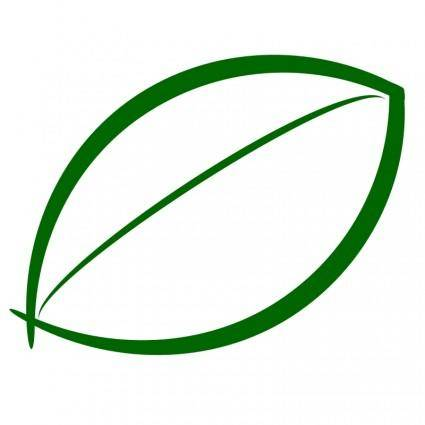 free vector Small Green Leaf Icon