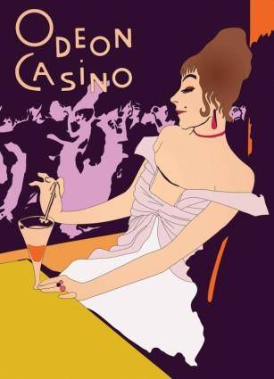 Retro Casino Poster Vector