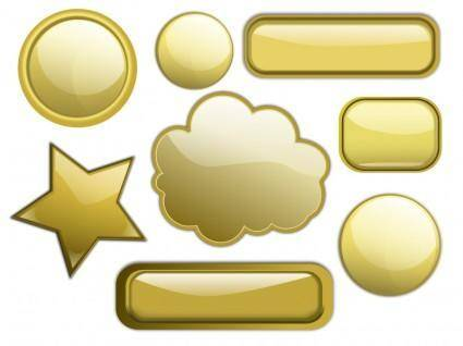 free vector Some Gold Buttons