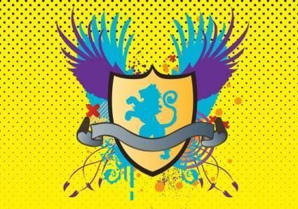 free vector Heraldic Lion Shield