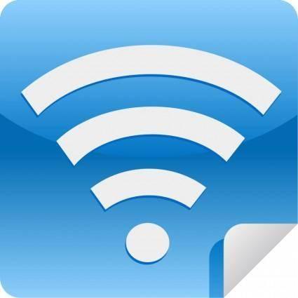 free vector Wifi web 2.0 sticker