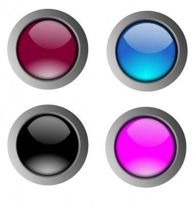 Round glossy buttons