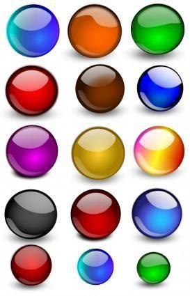 free vector Glossy Orbs/Balls 2