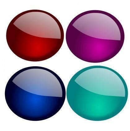 free vector Glossy Orbs-1