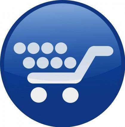 free vector Shopping cart-blue