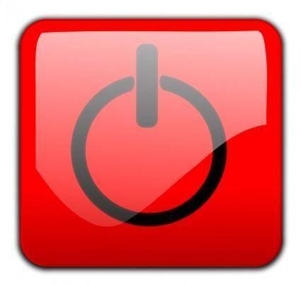 free vector Shutdown Button