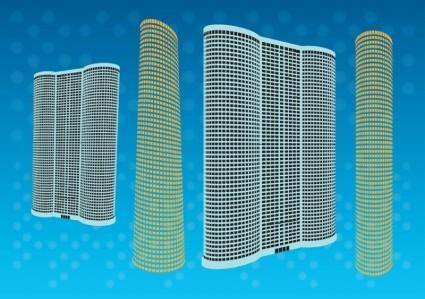 free vector Free Skyscraper Tower Vectors