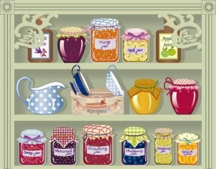 Food jar 01 vector