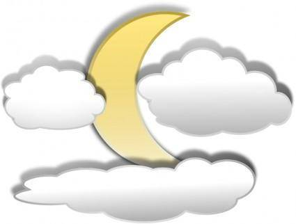 Clouds and the Moon 3