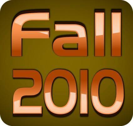 free vector FALL 2010 TEXT