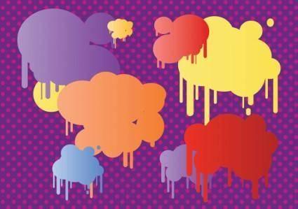 free vector Pop Art Bubbles
