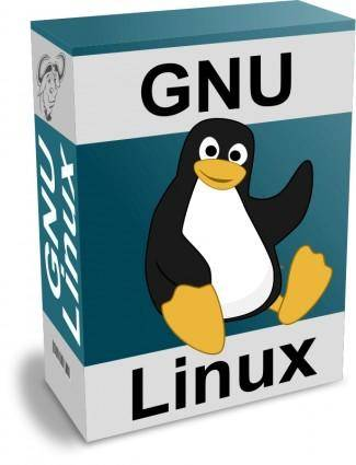 free vector Software Carton Box with GNU - Linux Text and Tux