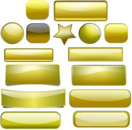 free vector Golden Buttons
