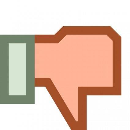 free vector Thumb down Dislike