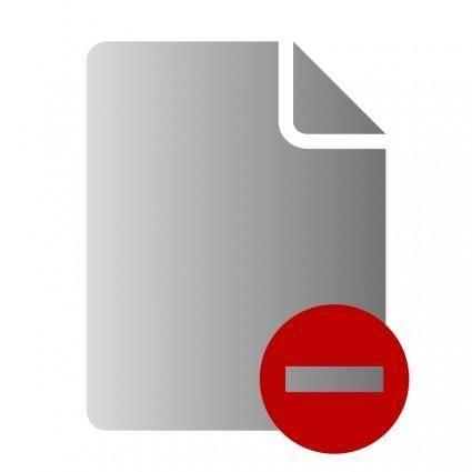 free vector File Delete Icon