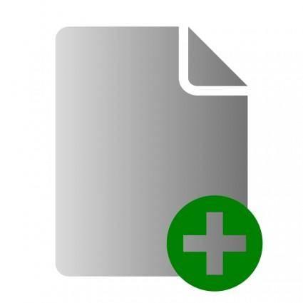 free vector File Add Icon