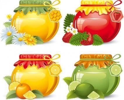 Food jar 05 vector