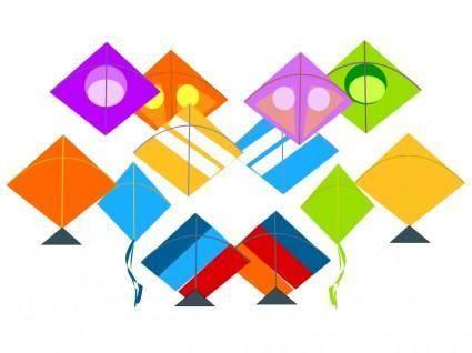 free vector Various Kites