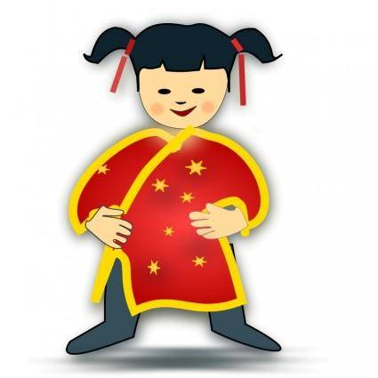 Chinese girl icon