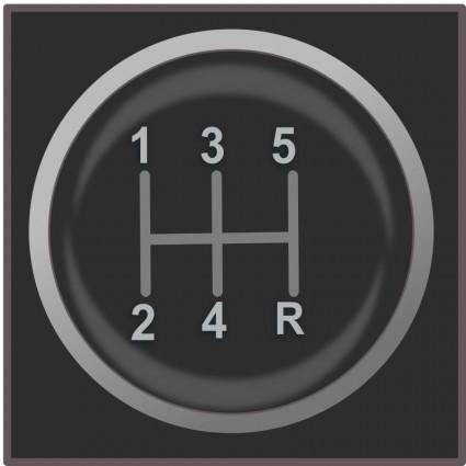 free vector Gear shift knob icon