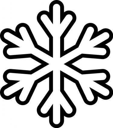free vector Snowflake - Monochrome