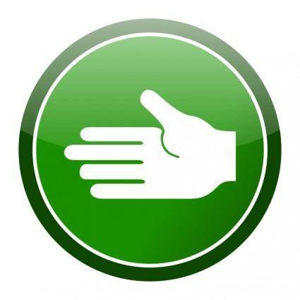 Green cirlce hand icon