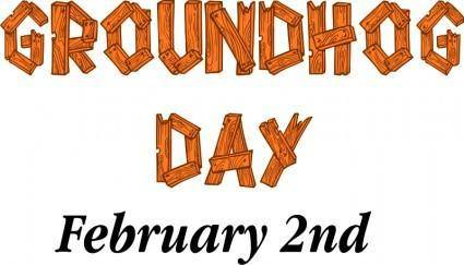 free vector Groundhog Day Sign