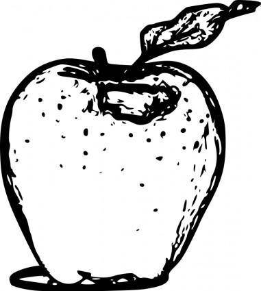 free vector Apple line art