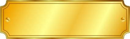 Gold Metal Sign
