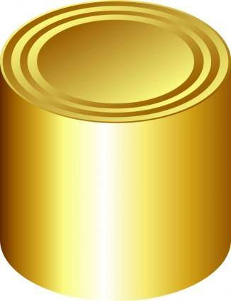 free vector Gold can