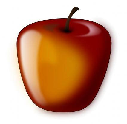 Red shaded apple