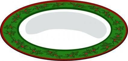 free vector Christmas Plate