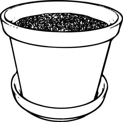free vector Flowerpot With Soil
