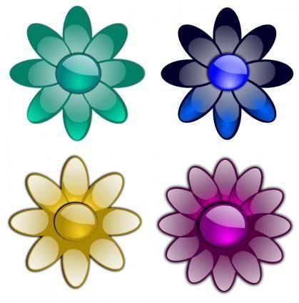 Glossy flowers 3