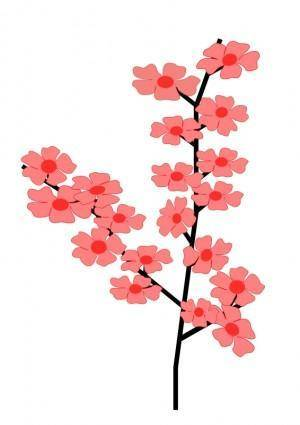 free vector Flowers Sakura2