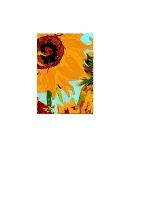 free vector Van gogh s sun flower en 01
