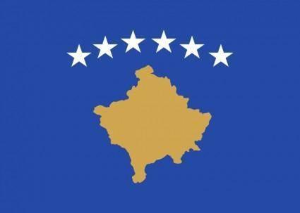 free vector Kosovo Flag